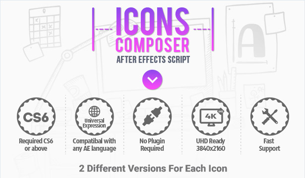 Icons Composer Script / Flat animated icons / Design concepts and backgrounds - 1