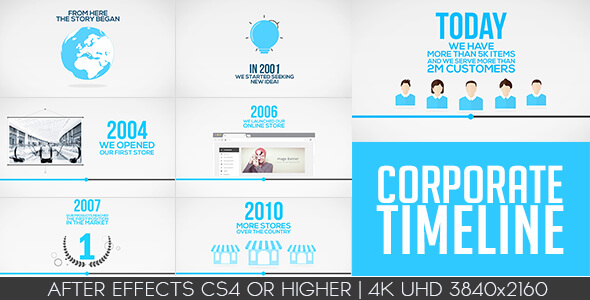 Corporate Timeline After Effects Template Istockplus - After effects timeline template