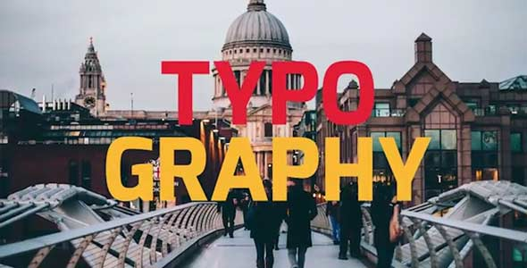 Typography Slideshow Opener
